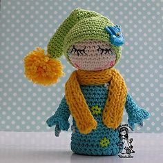 Ravelry: Elf with the dew drops on the lashes pattern by Vendula Maderska.
