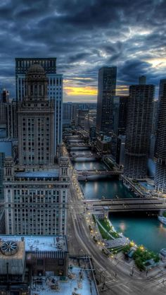 Business District, Chicago, Illinois, United States,