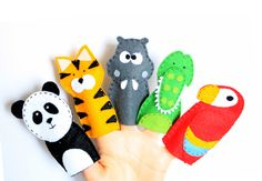 Felt finger puppets set  Animals from the by MiracleInspiration