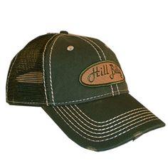 HillBilly+Brand:+Olive+Mesh+Trucker+Hat