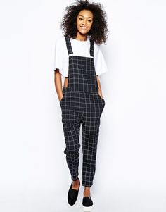 Can't get enough of these checked dungarees! Perfect with your Converse! asos.to/1poRAl6 #toppick #asos