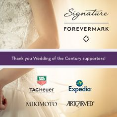 THANK YOU sponsors of the Ben Bridge $100,000 Wedding of the Century. We can't wait to give away all the fabulous prizes you provided!