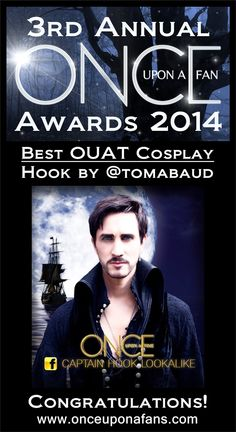 The winner of 'Best #OnceUponATime Cosplay in the Once Upon A Fan Awards 2014 goes to @TomaBaud. Congratulations!