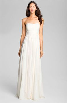 Jenny Yoo Sweetheart Neckline Layered Chiffon Gown available at #Nordstrom