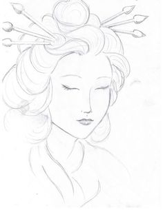geisha drawing drawings face faces oriental japanese traditional easy pencil tattoo sketches paintings geishas imgarcade artwork getdrawings