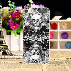 Hard Plastic Phone Cases For iPod Touch 6 Case DIY Back Protection Shell Cover Cool Skull Pattern