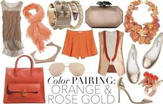Color pairing - orange and rose gold