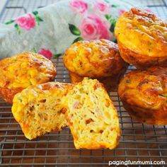 Yummy savoury muffins - a family favourite packed full of veggies!