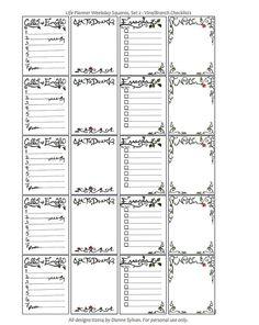 All new designs! Digital Stickers for Erin Condren Life Planner Set 2, by Dianne Sylvan