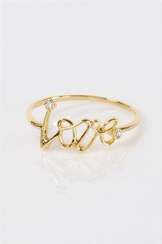 Love Yourself Ring - Gold