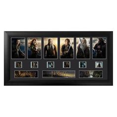 The Hobbit: Desolation of Smaug Series 1 Deluxe Film Cell Ltd Ed Display - Limited edition of 2,500 framed deluxe FilmCell presentation. 20-inch x 11-inch black MDF frame. Comes with an easel back for easy display. Trend Setters embossed/foiled certificate of authenticity. Made in the USA.It is double matted, placed in a quality frame, contains a clear front and back allowing natural light to enhance the film frames.