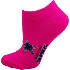 Dallas Cowboys Ladies Ankle Socks - Pink
