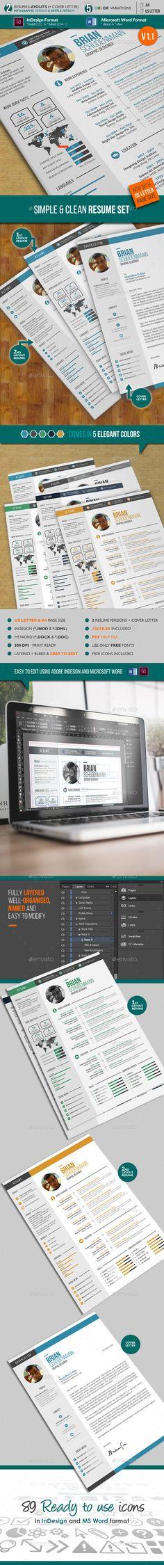 Modern Resume 3 Set Modern resume - resume word template download