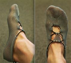 This is way too much for me. for those who barefoot run, ditch your Vibrams and grab some chain mail ;)