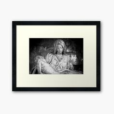 """""""The pity: Michelangelo masterpiece in Saint Peter Basilica - Vatican"""" by Paolo Modena Photography - Fine Italian Art 