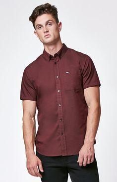 Wayne Speckled Short Sleeve Button Up Shirt | gartley style ...