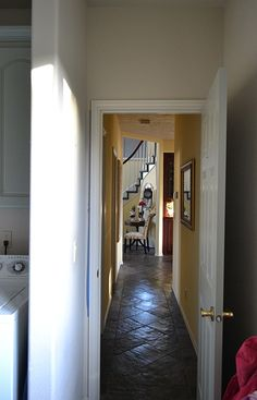Slate floors at an angle Slate Flooring, Mudroom, Kitchen Remodel, Floors, Entryway, House Ideas, Live, Furniture, Home Decor