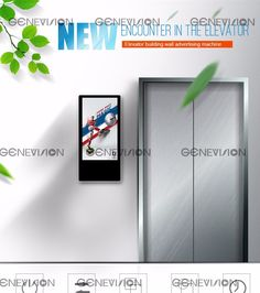 "18.5"" lcd kiosk elevator application digital signage advertising screen"