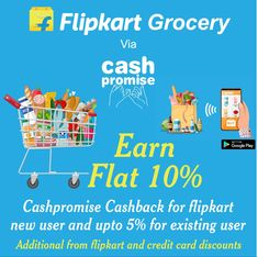 Shop flipkart grocery via cashpromsie.in Online Shopping Sites, Cards, Maps, Playing Cards