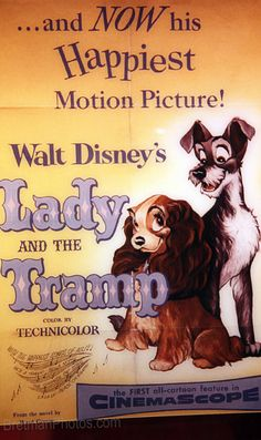 Vintage Lady and the Tramp Poster