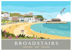 Viking Bay is the main beach of Broadstairs and has all the typical seaside attractions for a British beach holiday. Ice creams, sand, beach huts, fish and chips and sunshine! It has its own little harbour with a few fishing boats. This is the latest of the Broadstairs images to be