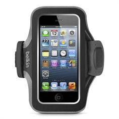 Slim-Fit Plus Armband for iPhone 5/5s and 5c - Blacktop/Gravel -  HeroImage