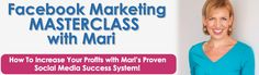 NEW online training course just launched today! :) Facebook Marketing MASTERCLASS with Mari Smith