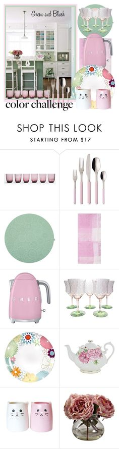 """""""A Whimsical Kitchen ..."""" by krusie ❤ liked on Polyvore featuring interior, interiors, interior design, home, home decor, interior decorating, Nason Moretti, Villeroy & Boch, Le Jacquard Français and Smeg"""