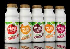 Bio Green Dairy Logo and Packaging