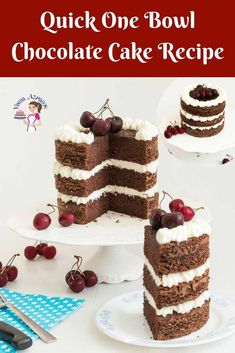 A one bowl chocolate cake recipe is a must-have recipe on hand if you love cake. This simple, easy and effortless recipe is quick and versatile. Taste delicious on its own fresh out of the oven, dress…More Cake Recipes From Scratch, Easy Cake Recipes, Frosting Recipes, Cupcake Recipes, Baking Recipes, Cupcake Cakes, Dessert Recipes, Cupcakes, Bread Recipes