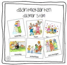 Kleuterjuf in een kleuterklas: Woordkaarten FEESTDAGEN (Dagmar Stam)