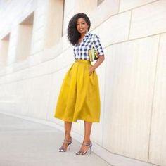 White-Yellow-Satin-A-Line-Party-Princess-Skirts-Tea-Length-Lady-Prom-Dress-Skirt