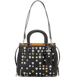 Black Rogue embellished leather shoulder bag