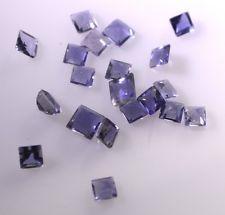 iolite faceted Blue Princess gems 5x5 1 pc