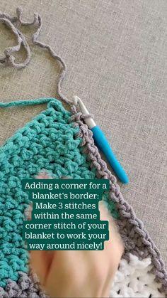 Chevron Crochet Blanket Pattern, Crochet Blanket Tutorial, Crochet Blanket Border, Crochet Coaster Pattern, Crochet Edging Patterns, Crochet Bunny Pattern, Crocheting Patterns, Crochet Edgings, Crochet Borders