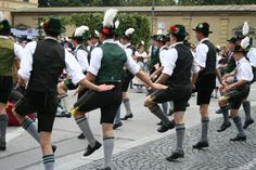 """dancing  the """"Schuhplattler""""..."""