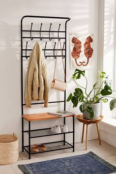 Hallie Entryway Storage Unit - Small Space Entryway Ideas – How to Design a Tiny Entry Design Apartment, Small Apartment Decorating, Apartment Therapy, Small Space Decorating, Minimal Apartment Decor, Small Apartment Living, Small Apartment Entryway, Cute Apartment Decor, Furniture For Small Apartments