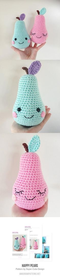 Happy Pears Amigurumi Pattern