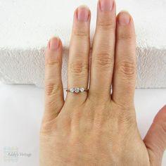 Art Deco Engagement Ring Old European Cut Diamond Three by Addy
