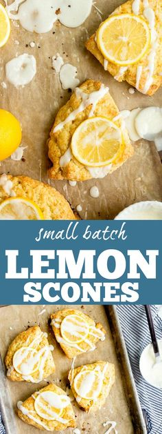 Small batch Meyer lemon scones for two. Small batch scone recipe for two. Cream scones recipe for two. Lemon recipes and Meyer lemon recipes. via @dessertfortwo