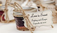 Cute wedding ideas!!  Mini mason jar pies: http://www.countryoutfitter.com/style/real-country-wedding-sydney-warren/