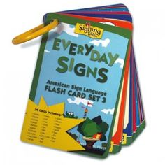Everyday Signs Flash Card Set 3 $6.99 Sign Language For Kids, American Sign Language, Classroom Projects, Classroom Ideas, Mayer Johnson, Sensory Boards, Social Emotional Learning, Future Classroom, Speech Therapy