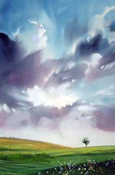 watercolor art by Joe Cibere