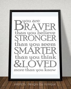 Winnie the Pooh Quote 8x10 Digital Print by SimplicitybyMonique