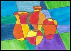 Teplé a studené barvy - zátiší Op Art, Workshop, Museum, Painting, Geometric Drawing, Parenting, Kunst, Atelier, Work Shop Garage