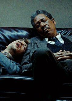 whysoserioused: Brad Pitt & Morgan Freeman in Se7en
