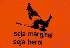 """A obra """"Seja Marginal, Seja Herói"""" (1967), serigrafia de Hélio Oiticica"""