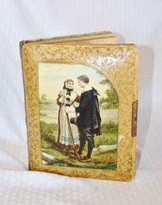 Antique Victorian Celluloid Photo Album by MyVintageHatShop