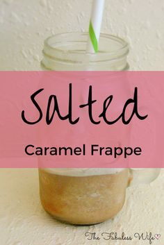 My Salted Caramel Frappe is the perfect pick-me-up! It's low-carb, sugar-free and a THM FP! Trim Healthy Mama Plan, Trim Healthy Recipes, Thm Recipes, Caramel Frappuccino, Frappe, Yummy Drinks, Healthy Drinks, Cold Drinks, Alcoholic Beverages