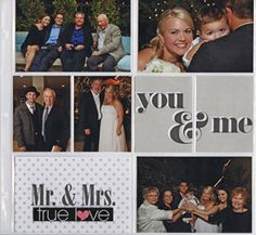 MAMBI wedding scrapbook layout - POCKET PAGES.